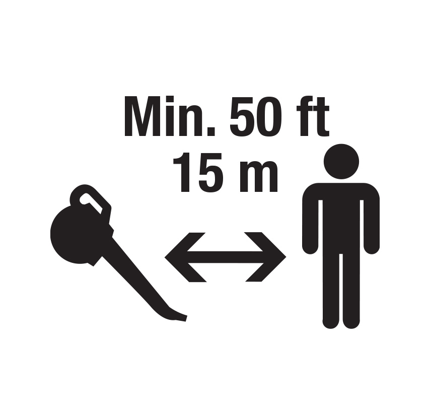 keep a 50 feet or 15 meter distance