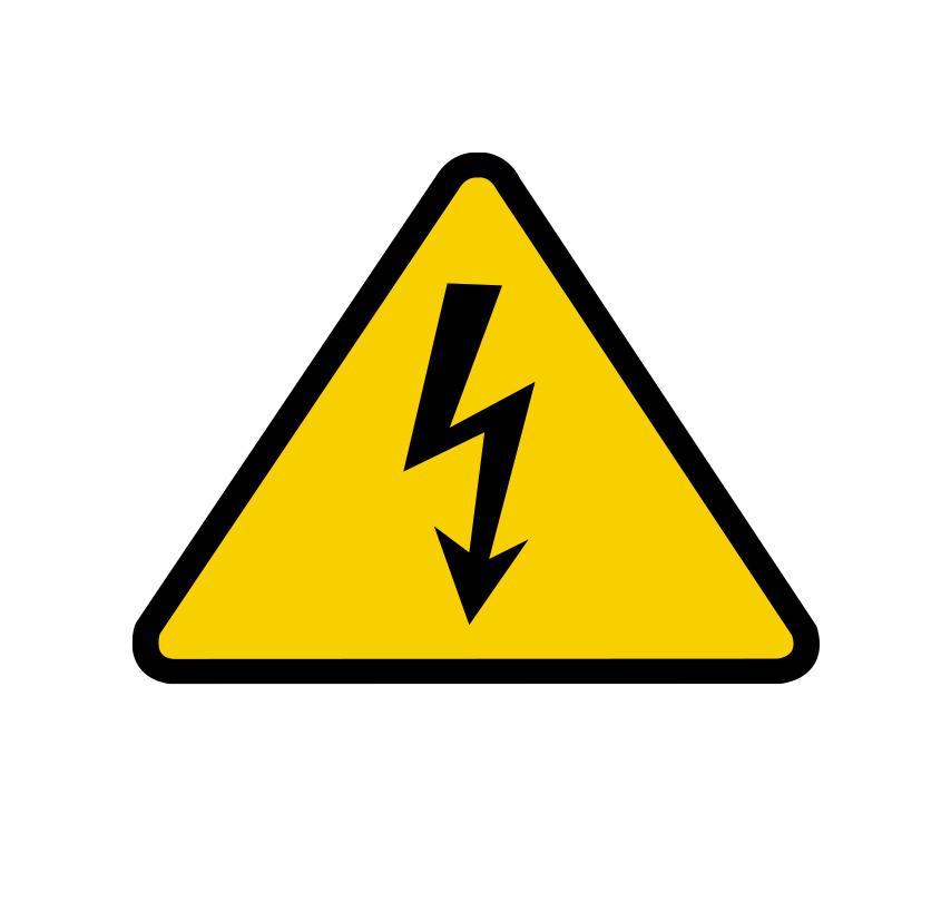 electrical shock warning