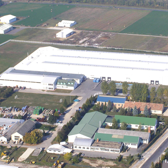 Airial view of german factory